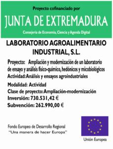 Ampliación y modernización de un laboratorio de ensayo y análisis físico-químico, hedónico y microbiológico